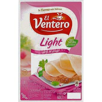 El Ventero Queso tierno light 8 lonchas finisimas Bandeja 160 g