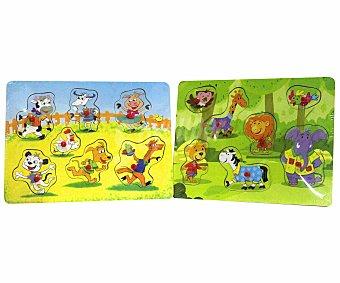 Baby Auchan Puzzle Infantil de Animales de Madera 1 Unidad