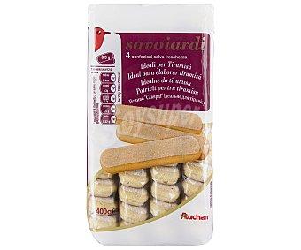 Auchan Bizcocho Savoiardi, de huevo cubierto de azúcar 400 Gramos