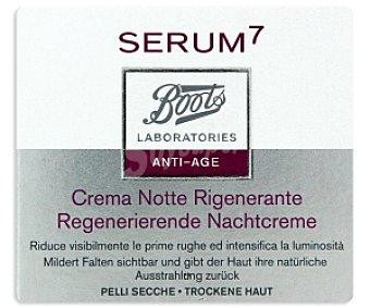 BOOTS SERUM7 Crema regenerador noche, piel seca 50 Mililitros