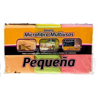 Bosque Verde Bayeta microfibra multiusos pequeña (especial cocina, baño y salón) Paquete de 3 unidades