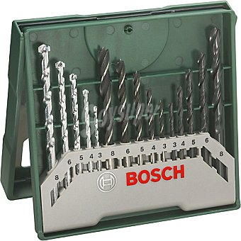 Bosch Set multiuso de 15 brocas