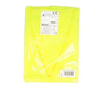 IMPEX Chaleco de seguridad amarillo con doble banda reflectante, cumple la normativa EN471-2 y válido de las talla M a XXL 1 unidad