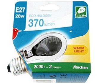 AUCHAN Bombilla EcoHalógena Estándar E27 28W 1 Unidad