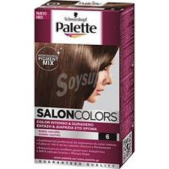 Palette Schwarzkopf Tinte rubio oscuro N.6 SALON COLORS Caja 1 unid