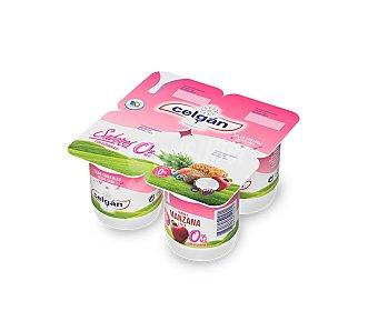 Celgán Yogur de manzana desnatado Pack de 4 u x 125 g