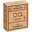 Café descafeinado cápsulas compost. Caja 10 monodosis Caferico