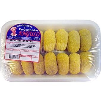 EMBUTIDOS Y PRECOCINADOS ANGULO Croquetas de bacalao peso aproximado Bandeja 500 g
