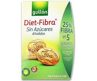 Gullon Galletas con fibra sin azúcar 500 g
