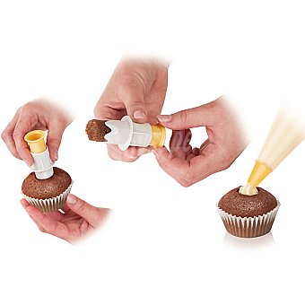 TESCOMA Juego de 2 descorazonadores de muffins 2 unidades
