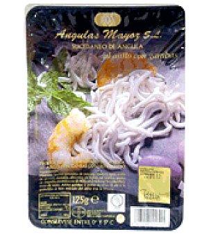 Mayulas Sucedaneo de angulas con gambas al ajillo 125 g