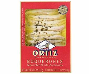 Ortiz Boquerones en conserva marinados en vinagre de vino blanco, 80 Gramos