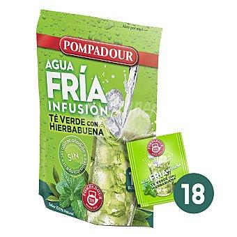 Pompadour Té verde con hierbabuena-agua fría 18 ud