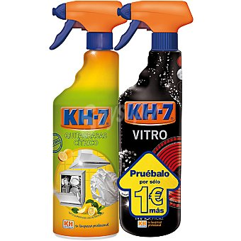 KH-7 quitagrasas cítrico ecológico pistola + vitrocerámica espuma pack precio especial 750 ml