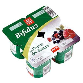 DIA Yogur bífidus con frutas del bosque Pack 4 unidades 125 g