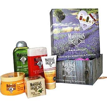 Le Petit Marseillais Pack compuesto por gel de baño Amapola + champu cabello normal frasco 300 ml + crema de manos hidratante tubo 75 ml + mascarilla + jabón de tocador Frasco 250 ml