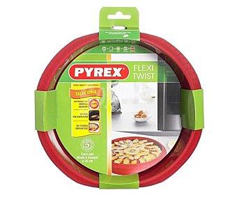 PYREX Molde hondo para tartas fabricado en silicona modelo Fexi Twist, 26 centímetros de diámetro 1 unidad