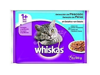 Whiskas Comida gato selección pescado 4X 100 G