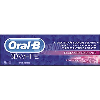 ORAL B 3D White Pasta dentífrica Blancura Radiante Tubo 75 ml
