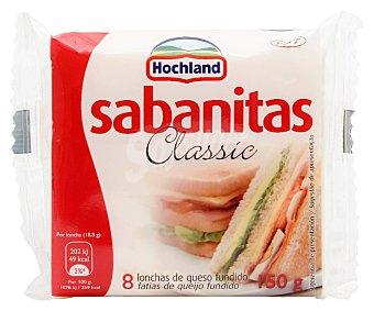 Sabanitas Queso en Lonchas Fundidas 8 Unidades (150 Gramos)