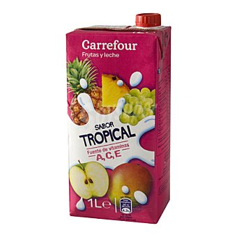 Carrefour Leche y frutas tropical 1 l