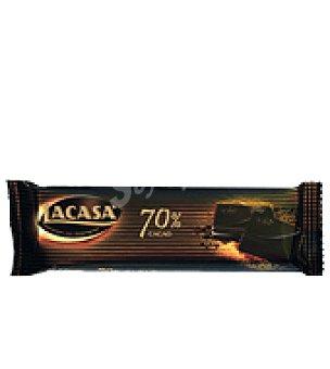 Lacasa Chocolatina de chocolate puro 70% 40 g