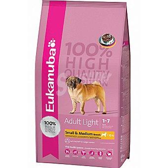 EUKANUBA ADULT MEDIUM BREED LIGHT Alimento completo para perro adulto de raza pequeña y mediana con sobrepeso rico en pollo Bolsa 3 kg