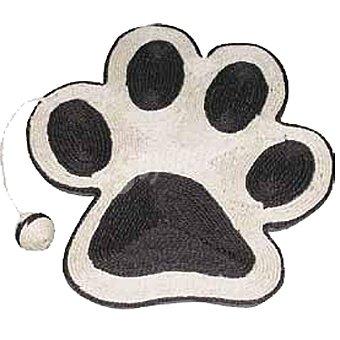 ARQUIVET Rascador para gato con forma de huella color negro con raton medidas 40x36 cm 1 unidad