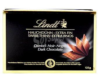 Lindt Láminas de chocolate negro 125 gramos