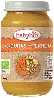 BabyBio Tarrito de verduras y ternera desde 6 meses sin sal añadida ecológico Babybio sin gluten 200 g