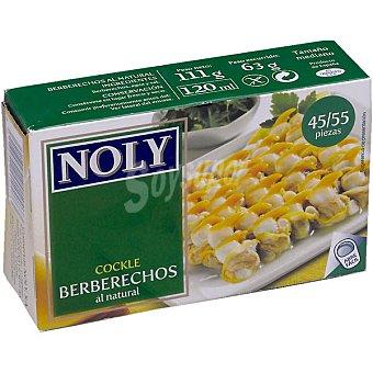 Noly Berberechos de Holanda al natural 45-55 piezas Lata 65 g neto escurrido