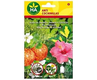 HA-Huerto y Jardín Anti Cochinillas soluble, sobre para preparar 5 Litros 15 Gramos