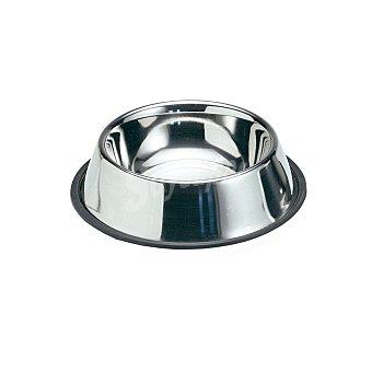 Biozoo Axis Comedero de acero inoxidable y antideslizante tamaño mediano 0,9 l 1 unidad