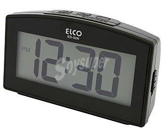 ELCO Reloj despertador digital ED-92, alarma, repetición, luz ED-92NB