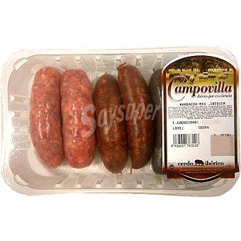 CAMPOVILLA Surtido barbacoa ibérica con chorizo rojo y morcilla Bandeja 450 g