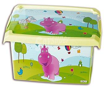 PENGO Caja de ordenación con tapa de 20,5 litros, modelo Fashion Hippo 1 Unidad