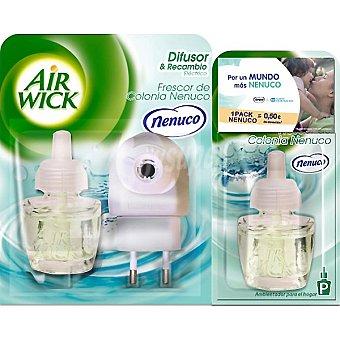 Air Wick Ambientador eléctrico Frescor de colonia Nenuco aparato + 2 recambios