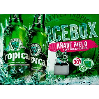 TROPICAL ICEBOX Cerveza rubia nacional Pack 20 botellas 25 cl