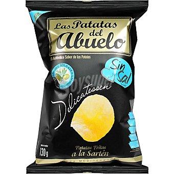 Las patatas del abuelo Patatas fritas sin sal con aceite de oliva virgen Bolsa 130 g