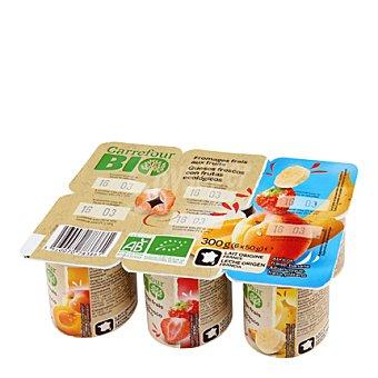 Carrefour Bio Yogur de frutas Pack de 6x50 g