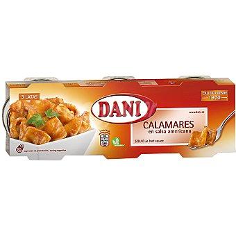 Dani Calamares en salsa americana neto escurrido Pack 3 latas 49 g