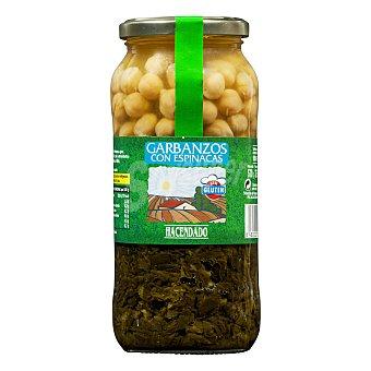 Hacendado Garbanzo cocido espinaca Tarro 570 g escurrido 420 g