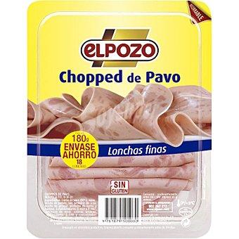 ElPozo Chopped de pavo en lonchas finas Envase 180 g