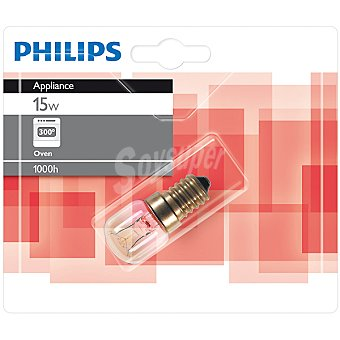 Philips Appliance 15 W lampara standar para horno E14 (fino)