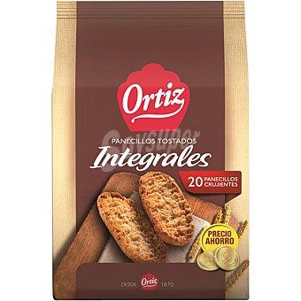 ORTIZ panecillos integrales tostados a fuego lento  paquete 225 g