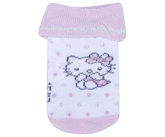 Hello Kitty Calcetines de bebé, color rosa, talla 15