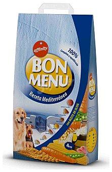 Bon Menu Affinity Comida seca para perros receta mediterránea con aceite de oliva 4 kg