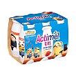 Yogur L.Casei líquido con fresa y plátano Kids Pack 6 botellines x 100 g Actimel Danone