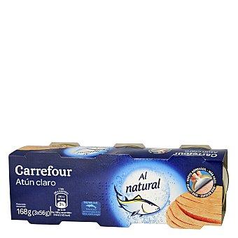 Carrefour Atún claro al natural Pack de 3x56 g