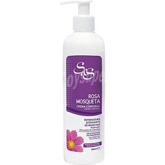 S&S Crema corporal Rosa Mosqueta reparadora atenuante de manchas Dosificador 300 ml